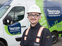 Adam Ainsworth, apprentice at Electricity North West