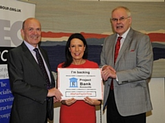 Neil Skinner, owner of Oldham firm Johnson Brothers, with Debbie Abrahams MP, and Rudi Klein, Chief Executive of Specialist Engineering Contractors� (SEC) Group.