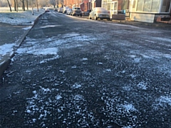 Icy conditions on Oldham's roads