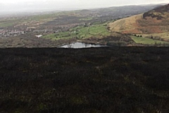 Scorched moorland at Saddleworth