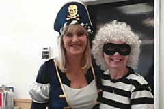 Last year�s World Book Day at Scrivens Shaw branch �  manager Elaine Speight (left in pirate costume) and colleague Mandy Knapman (right) as Gangsta Granny