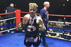 Anthony Hamer with his boxing belt