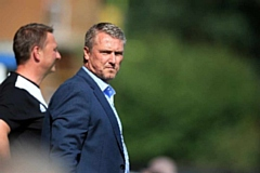 Lee Clark during his stint as manager of Bury