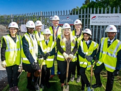 Oasis Academy Leesbrook students at the 'spades in the ground' event