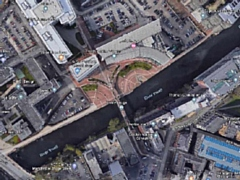 The man was found near the Lowry Hotel in central Manchester