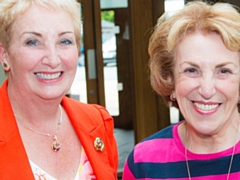 L-R Saddleworth WI President Pam Armstrong, Former MP Edwina Currie