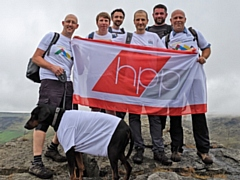 Back: (L-R): Matt Barker, Stuart Hyde, Henley Bailey, Dan Mounsey, Mark Staines, Shaun Nolan. Front: Brock the dog