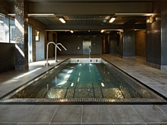RED Manufacturing�s steel jacuzzi pool framework, wall and column cladding for steam room and sauna facilities at the Waterside Hotel & Leisure Club in Didsbury, Manchester.