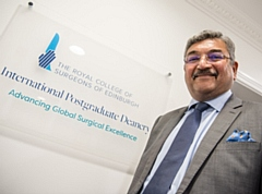 Cardiothoracic Surgeon Pala Rajesh, Vice President of RCSEd, pictured at the initiative launch