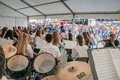 Hundreds of people enjoyed a whole range of musical performances in the town centre
