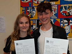 A-level students celebrate their results