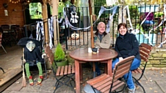 Mark and Gill Bradley at the Old Library Garden Cafe