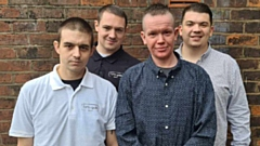 The Fumi-Gate team are pictured (left to right): Jake Smith, Jack Wilcox, Jake Whittaker and Grant Whittaker