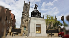Oldham War Memorial and Oldham Parish Church