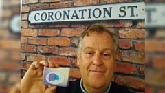 Soap star Peter Gunn (Brian Packham) supporting PAPYRUS Prevention of Young Suicide