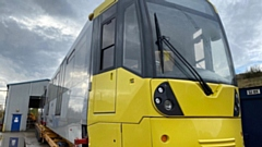 One of the new M5000 vehicles, which is stabled at Metrolink's Queens Road depot