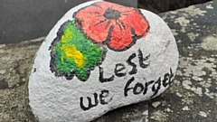 Rachel Fish has been painting stones to raise money for the Poppy Appeal