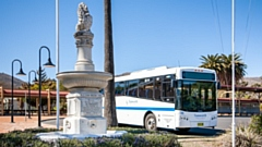 Buslines operates a fleet of 380 buses, servicing a network of bus routes in major regional towns throughout New South Wales in Australia