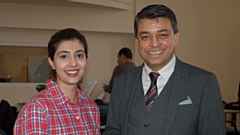 Sadaf Anwar and Dr Zubair Ahmad (Founder, Director, Arlington Medical Academy)