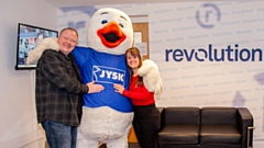 Get along and see the JYSK mascot at the new Oldham store grand opening this Saturday