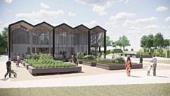 The modem-designed environmental centre will be built in place of the ageing depot in the Grade Two listed Alexandra Park in Oldham town centre