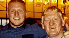 Joey Needham is pictured with his father Jimmy Needham before he took ill