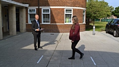 Hathershaw College Principal�Mark Giles welcomed Year 10 pupils back this morning