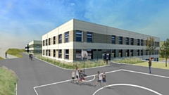 How part of the new Saddleworth School will look