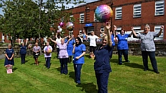 The Ward T5 team at the Royal Oldham Hospital celebrate SCAPE accreditation