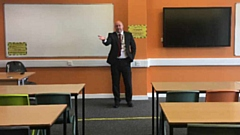 Headteacher Rob Higgins at Blue Coat secondary school in Oldham