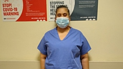 Stacey Lee, a Domestic Assistant on ICU at The Royal Oldham Hospital