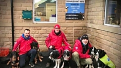 Rescue team dogs paid a visit to Donaldson's to get their yearly check-up and jabs