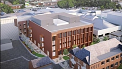 The new extension planned for the Royal Oldham Hospital