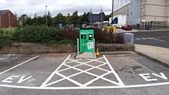 The new rapid charger on the Civic Centre car park