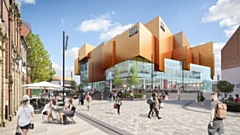 A CGI of Rochdale Riverside shopping and leisure centre - courtesy of Rochdale Council