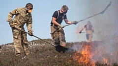Soldiers tackling the fires on Saddleworth Moor in 2018. The fire service wants to avoid anything remotely similar occurring this Easter weekend. Picture courtesy of @BritishArmy on Twitter