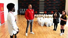 Wes Brown supports the Manchester United Foundation and FareShare initiative to donate food to local families