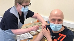 Paul receives his second Covid vaccination