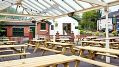 The Rose of Lancaster outdoor space in Chadderton will be open on Monday. Image courtesy of www.roseoflancaster.co.uk