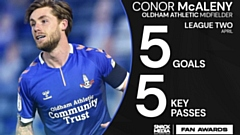 Conor McAleny enjoyed a terrific April